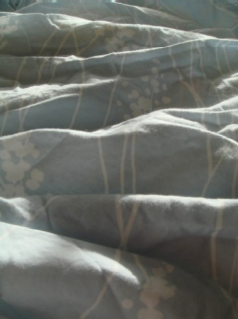 fresh linen on our bed