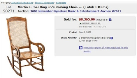 Dr. Martin Luther King Jr.'s Lincoln rocking chair