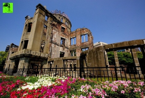 A-bomb Dome in Spring