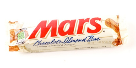 in Finland and other Nordic Countries, a standard Mars Bar weighs 47g